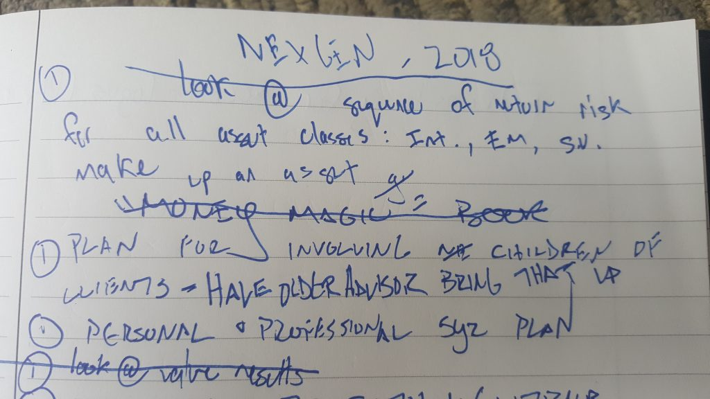 Some of my actual notes from Gathering 2018